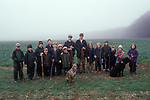 Children shooting rural sport at a shoot Hampshire England Teenager learning about rural sport. They have been acting as beaters  2000s