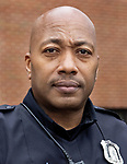 WATERBURY CT. - 15 January 2020-011521SV08-Officer Damian Blocker  of the youth division at the police station in Waterbury Friday.<br /> Steven Valenti Republican-American