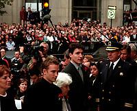 La famille Trudeau aux funerailles de Pierre Trudeau le 10 Octobre 2000, a la Basilique Notre-Dame<br /> <br /> PHOTO :  Agence Quebec Presse