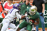 Baylor Bears running back Corey Coleman (1) in action during the game between the TCU Horned Frogs and the Baylor Bears at the McLane Stadium in Waco, Texas. TCU leads Baylor 31 to 27 at halftime.