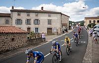 yellow jersey / GC leader Julian Alaphilippe (FRA/Deceuninck - Quick-Step) in the peloton<br /> <br /> Stage 9: Saint-Étienne to Brioude(170km)<br /> 106th Tour de France 2019 (2.UWT)<br /> <br /> ©kramon