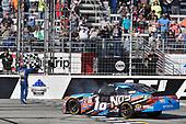 2017 NASCAR XFINITY Series - Rinnai 250<br /> Atlanta Motor Speedway, Hampton, GA USA<br /> Saturday 4 March 2017<br /> Kyle Busch, NOS Energy Drink Toyota Camry celebrates his win with a burnout<br /> World Copyright: Nigel Kinrade/LAT Images<br /> ref: Digital Image 17ATL1nk05633