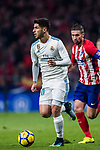 Marco Asensio Willemsen of Real Madrid in action during the La Liga 2017-18 match between Atletico de Madrid and Real Madrid at Wanda Metropolitano  on November 18 2017 in Madrid, Spain. Photo by Diego Gonzalez / Power Sport Images