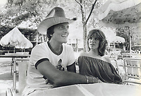 1978<br />  FILE PHOTO - ARCHIVES -<br /> <br /> Singer now author: Pat Boone, seen here with daughter Debbie, has written a book called Pray to Win-God wants you to succeed, which religion editor Tom Harpur says is a crude distortion of Christian teaching, but will undoubtedly sell well and influence thousands.'<br /> <br /> <br /> Bezant, Graham<br /> Picture, 1978,<br /> <br /> 1978<br /> <br /> PHOTO : Graham Bezant - Toronto Star Archives - AQP