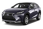 2015 Lexus NX 300h F Sport 4WD 5 Door SUV 4WD Angular Front stock photos of front three quarter view