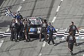 #4: Todd Gilliland, Kyle Busch Motorsports, Toyota Tundra Mobil 1, celebrates after winning.