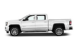 Car Driver side profile view of a 2018 GMC Sierra 1500 Denali 4WD Crew Cab Short Box Denali 4 Door Pick-up Side View