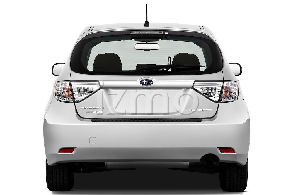 Straight rear view of a 2010 Subaru Impreza Wagon 2.5i Premium