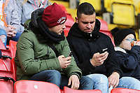 Swansea supporters during the Premier League match between Watford and Swansea City at the Vicarage Road, Watford, England, UK. Saturday 30 December 2017