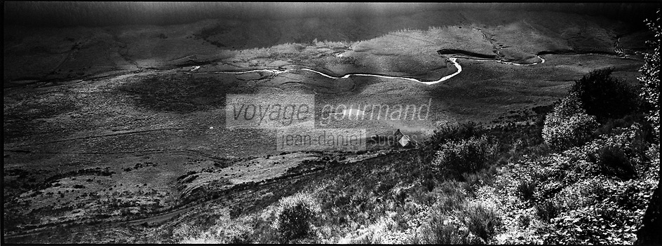 Europe/France/Auvergne/15/Cantal/Massif du Puy Mary:Buron et paturages dans la vallée de l'Impradine -Parc Naturel Régional des Volcans d'Auvergne