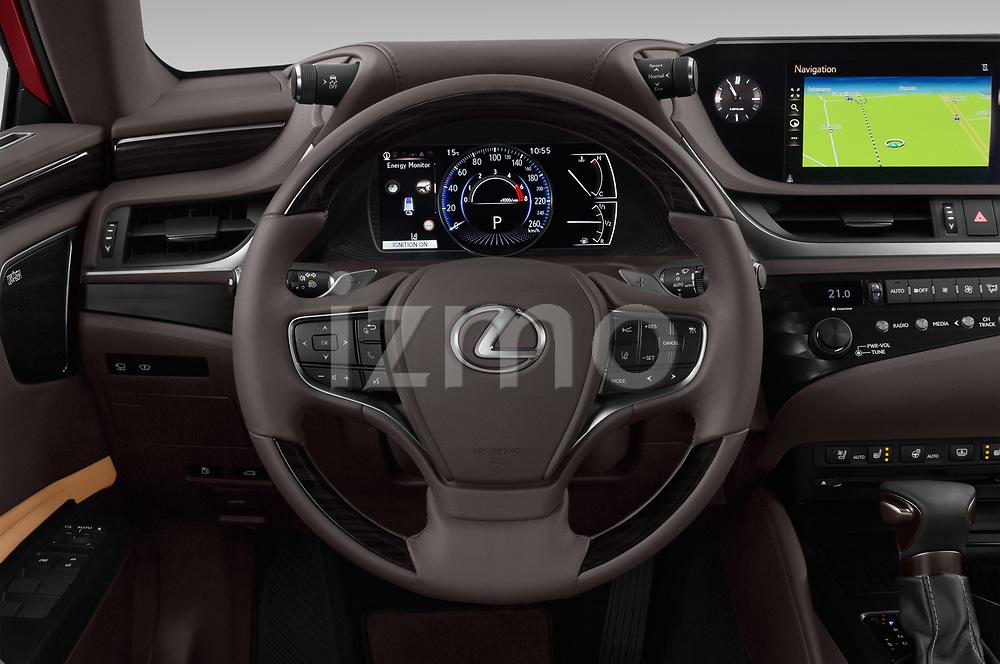 Car pictures of steering wheel view of a 2019 Lexus ES 300h-Privilege-Line 4 Door Sedan Steering Wheel