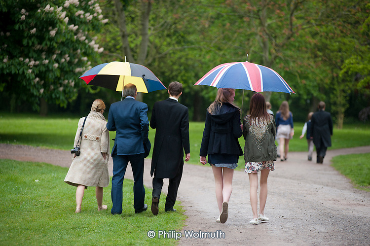 Schoolboy and family at Eton College.