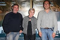 SERGI LOPEZ, MARION HANSEL, OLIVIER GOURMET - AVANT-PREMIERE 'EN AMONT DU FLEUVE' A L'UGC LES HALLES, PARIS, FRANCE, LE 25/04/2017.