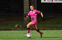 Chrystal Lermusiaux (2 Charleroi) pictured during a female soccer game between Sporting Charleroi and Eendracht Aalst on the 8th  matchday of the 2020 - 2021 season of Belgian Scooore Womens Super League , friday 20 th of November 2020  in Marcinelle , Belgium . PHOTO SPORTPIX.BE | SPP | DAVID CATRY