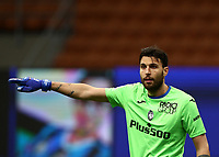 Calcio, Serie A: Inter Milano - Atalanta, Giuseppe Meazza (San Siro) stadium, in Milan, March 8, 2021.  <br /> Atalanta's goalkeeper Marco Sportiello reacts during the Italian Serie A football match between Inter and Atalanta at Giuseppe Meazza (San Siro) stadium, on  March 8, 2021.  <br /> UPDATE IMAGES PRESS/Isabella Bonotto