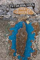 Europe/France/Corse/2B/Haute-Corse/Cap Corse/Nebbio/Bastia: Enseigne du : Village corse miniature,   reconstitution d'un village corse typique avec l'ensemble de ses metiers _ Bastia _ La Citadelle