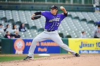 Akron Aeros pitcher Matt Packer (39) during game against the Trenton Thunder at ARM & HAMMER Park on April 17, 2013 in Trenton, New Jersey.  Akron defeated Trenton 10-6.  Tomasso DeRosa/Four Seam Images