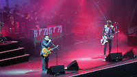 Pictured: James Dean Bradfield and Nicky WIre of the Manic Street Preachers Saturday May 2016<br /> Re: Manic Street Preachers at the Liberty Stadium, Swansea, Wales, UK