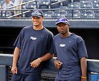Donavan Tate (left) and Everett Williams (right) - AZL Padres (2009 Arizona League)..Photo by:  Bill Mitchell/Four Seam Images..