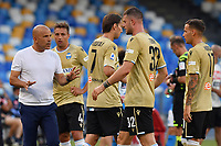 Luigi Di Biagio of SPAL argue with players during the Serie A football match between SSC  Napoli and SPAL at stadio San Paolo in Naples ( Italy ), June 28th, 2020. Play resumes behind closed doors following the outbreak of the coronavirus disease. <br /> Photo Carmelo Imbesi / Insidefoto