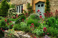 House and garden in Adlestrop, The Cotswols, Enngland