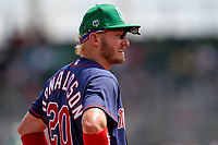 Minnesota Twins third baseman Josh Donaldson (20) during a Major League Spring Training game against the Boston Red Sox on March 17, 2021 at JetBlue Park in Fort Myers, Florida.  (Mike Janes/Four Seam Images)