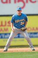 Myrtle Beach third baseman Eric Campbell (34) on defense versus Winston-Salem at Ernie Shore Field in Winston-Salem, NC, Monday, May 28, 2007.
