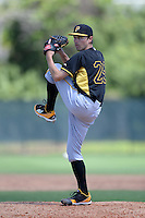 Pittsburgh Pirates pitcher Kirk Singer (29) during a minor league spring training game against the Philadelphia Phillies on March 18, 2014 at the Carpenter Complex in Clearwater, Florida.  (Mike Janes/Four Seam Images)