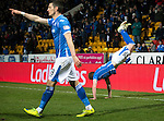 St Johnstone v Aberdeen…22.04.16  McDiarmid Park, Perth<br />Liam Craig celebrates his goal by performing a 'scorpion' (according to him)<br />Picture by Graeme Hart.<br />Copyright Perthshire Picture Agency<br />Tel: 01738 623350  Mobile: 07990 594431