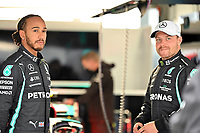 25th September 2021; Sochi, Russia; F1 Grand Prix of Russia  qualifying sessions;  HAMILTON Lewis gbr, Mercedes AMG F1 GP W12 E Performance, and BOTTAS Valtteri fin, Mercedes AMG F1 GP W12 E Performance