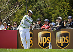 JEJU, SOUTH KOREA - APRIL 24:  Pablo Larrazabal of Spain tees off on the 16th hole during the Round Two of the Ballantine's Championship at Pinx Golf Club on April 24, 2010 in Jeju island, South Korea. Photo by Victor Fraile / The Power of Sport Images