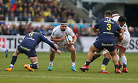 11 January 2020; Rob Herring of Ulster in action against Arthur Iturria of Clermont during the Heineken Champions Cup Pool 3 Round 5 match between ASM Clermont Auvergne and Ulster at Stade Marcel-Michelin in Clermont-Ferrand, France. Photo by John Dickson/DICKSONDIGITAL