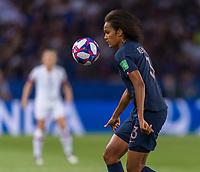 PARIS,  - JUNE 28: Wendie Renard #3 during a game between France and USWNT at Parc des Princes on June 28, 2019 in Paris, France.
