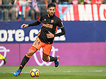 Ezequiel Garay of Valencia CF  runs with the ball during the match Atletico de Madrid vs Valencia CF, a La Liga match at the Estadio Vicente Calderon on 05 March 2017 in Madrid, Spain. Photo by Diego Gonzalez Souto / Power Sport Images
