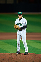 Beloit Snappers pitcher Raul Brito (7) during a game against the Peoria Chiefs on August 18, 2021 at ABC Supply Stadium in Beloit, Wisconsin.  (Mike Janes/Four Seam Images)