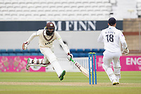 Hashim Amla of Surrey scampers to make his ground during Surrey CCC vs Hampshire CCC, LV Insurance County Championship Group 2 Cricket at the Kia Oval on 30th April 2021