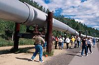 USA, Alaska, Alaska-Pipeline bei Fairbanks