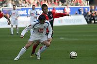 Benjamin Auer (VfL Bochum) gegen Junichi Inamoto (Eintracht)<br /> Eintracht Frankfurt vs. VfL Bochum, Commerzbank Arena<br /> *** Local Caption *** Foto ist honorarpflichtig! zzgl. gesetzl. MwSt. Auf Anfrage in hoeherer Qualitaet/Aufloesung. Belegexemplar an: Marc Schueler, Am Ziegelfalltor 4, 64625 Bensheim, Tel. +49 (0) 6251 86 96 134, www.gameday-mediaservices.de. Email: marc.schueler@gameday-mediaservices.de, Bankverbindung: Volksbank Bergstrasse, Kto.: 151297, BLZ: 50960101
