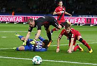 Mathew Leckie, goalkeeper Bernd Leno, Panagiotis Retsos /   / general viel, Spielszene  /      <br /> / Sport / Football Football / DFL 1. Bundesliga Bundesliga  /  2017/2018 / 20.09.2017 / Hertha BSC Berlin vs. Bayer 04 Leverkusen 170920007 /  *** Local Caption *** © pixathlon<br /> Contact: +49-40-22 63 02 60 , info@pixathlon.de