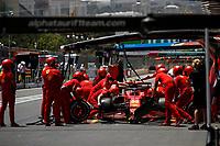 4th June 2021; Baku, Azerbaijan;  Free practise sessions;  55 SAINZ Carlos (spa), Scuderia Ferrari SF21 during the Formula 1 Azerbaijan Grand Prix 2021 at the Baku City Circuit, in Baku, Azerbaijan -