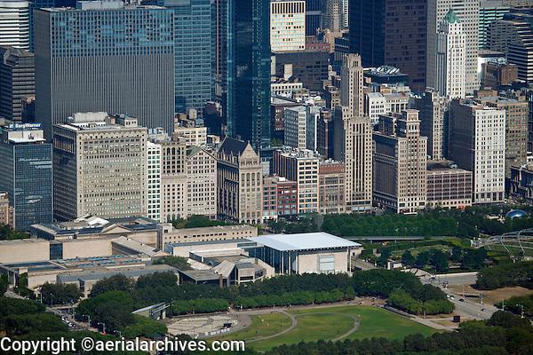 aerial photograph Millenium Park Chicago, Illinois