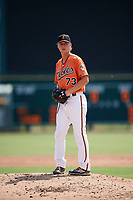 Baltimore Orioles pitcher Scott Burke (73) gets ready to deliver a pitch during an Instructional League game against the Pittsburgh Pirates on September 27, 2017 at Ed Smith Stadium in Sarasota, Florida.  (Mike Janes/Four Seam Images)
