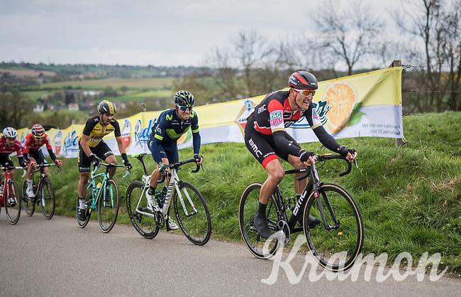 Greg Van Avermaet (BEL/BMC) followed by Alejandro Valverde (ESP/Movistar) up the Keutenberg<br /> <br /> 52nd Amstel Gold Race (1.UWT)<br /> 1 Day Race: Maastricht › Berg en Terblijt (264km)