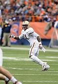 Boston College Eagles linebacker Kevin Pierre-Louis (24) in coverage during a game against the Syracuse Orange at the Carrier Dome on November 30, 2013 in Syracuse, New York.  Syracuse defeated Boston College 34-31.  (Copyright Mike Janes Photography)