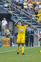 24 JULY 2010:  Emmanuel Ekpo during MLS soccer game between Houston Dynamo vs Columbus Crew at Crew Stadium in Columbus, Ohio on July 3, 2010. Columbus defeated the Dynamo 3-0.