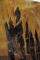 Europe/France/Auvergne/12/Aveyron/Villefranche-de-Rouergue: Peinture sur peau XVIIIème, représentant une procession - Chapelle des Pénitents noirs