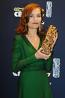 PARIS, FRANCE - FEBRUARY 24: Isabelle Huppert attends the Red Carpet Arrivals during the Cesar Film Awards 2017 at Le Fouquet's on February 24, 2017 in Paris, France