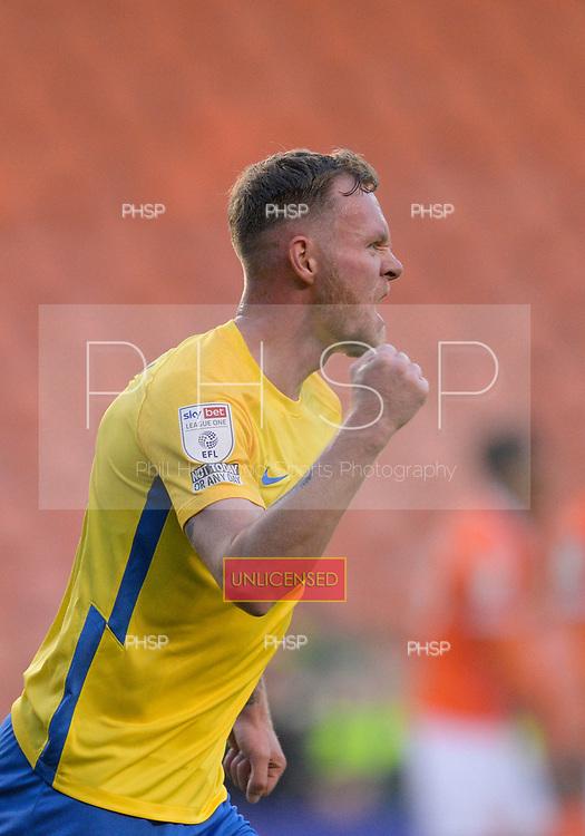 24/08/2021 Carabao Cup 2nd Round Blackpool v Sunderland <br /> <br /> Aiden O'Brien celebrates after equalising for Sunderland