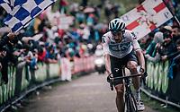 Wout Poels (NED/SKY) up the infamous Monte Zoncolan (1735m/11%/10km)<br /> <br /> stage 14 San Vito al Tagliamento – Monte Zoncolan (186 km)<br /> 101th Giro d'Italia 2018