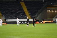 Anstoss Sebastian Rode (Eintracht Frankfurt) in der leeren Arena - 12.03.2020: Eintracht Frankfurt vs. FC Basel, UEFA Europa League, Achtelfinale, Commerzbank Arena<br /> DISCLAIMER: DFL regulations prohibit any use of photographs as image sequences and/or quasi-video.